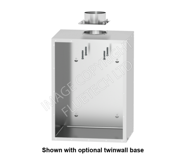 Box 'D-25' - Twinwall Square Fluebox with 23mm walls - Click Image to Close