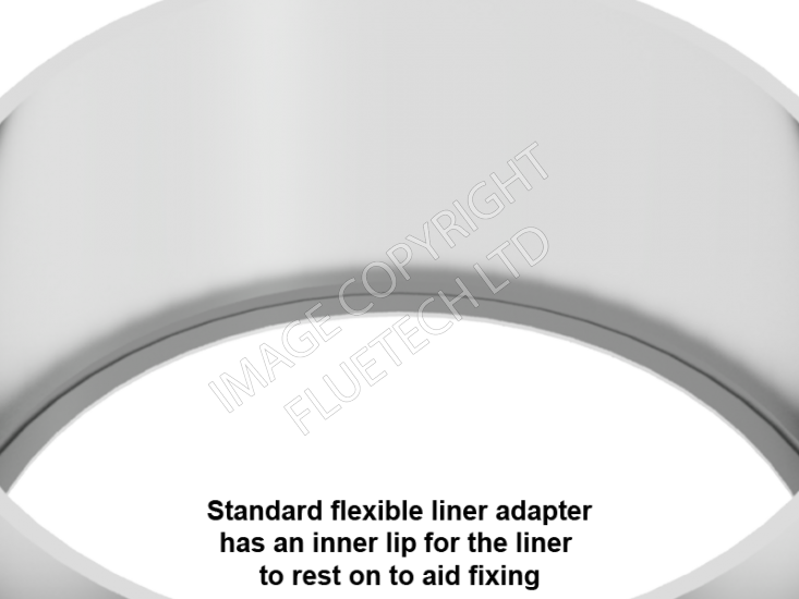 "125mm (5"") Flue Adapter - Click Image to Close"